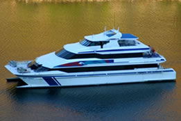 MV Reef Prince is a 38 metre, fully air-conditioned, stable catamaran